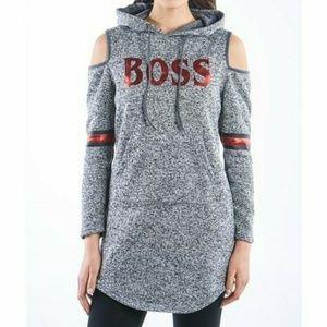 NWT. Cold shoulder hoodie